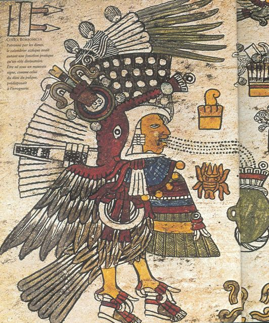 Aztec codex using gouache