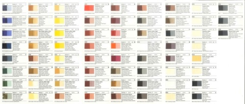 Rublev oil colourchart