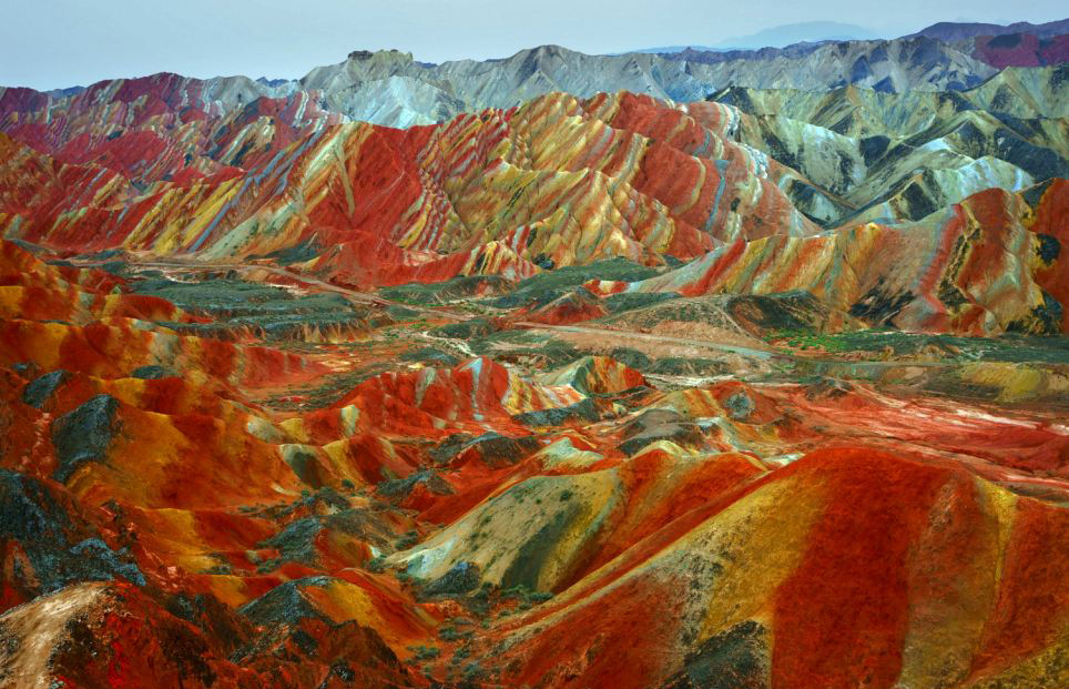 Painted earth! and it's real too... in Danxia, China