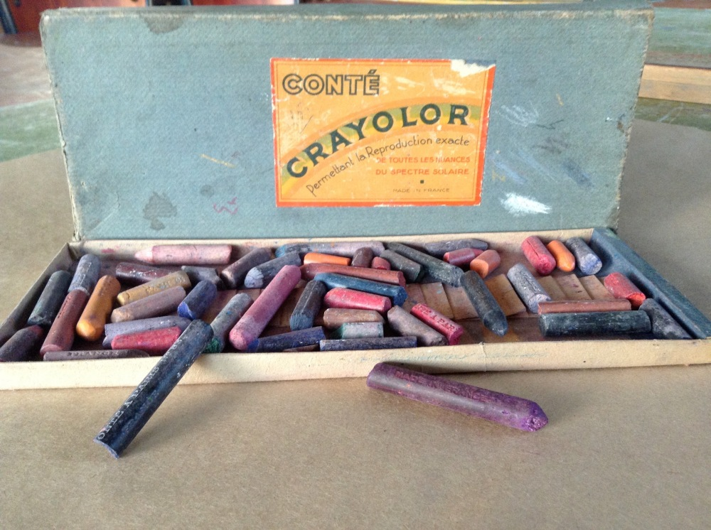 My Mum's old box of crayons... still working!
